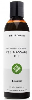 CBD/HAMP massage olie 1000 mg med lavendel - 237 ml
